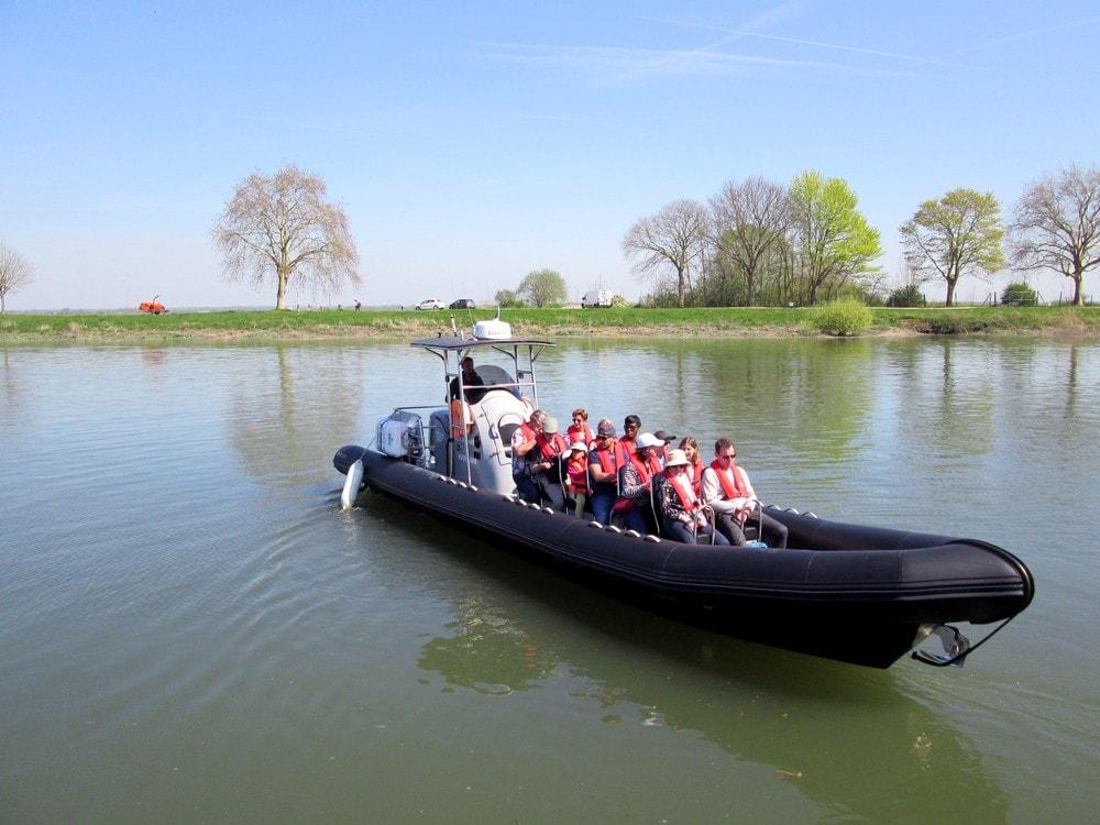 Découvrir la Baie de Somme en bateau semi-rigide - balade au départ de St Valery sur Somme